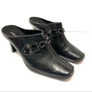 Aerosoles Black Comfort Mules Shoes Size 9